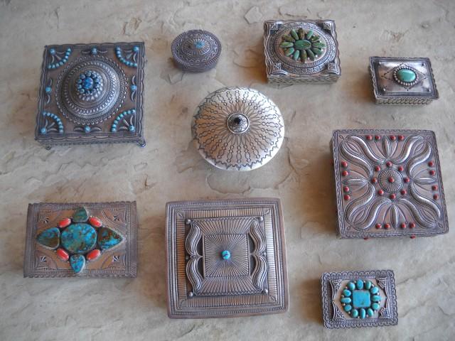 Navajo-Silversmith-Boxes